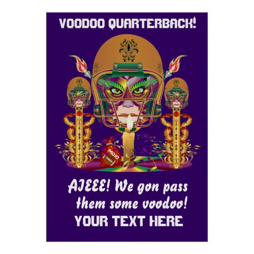 Mardi Gras Football think it's to early view notes Posters