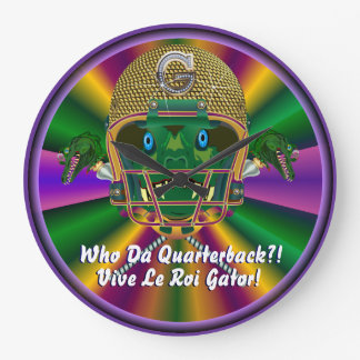 Mardi Gras Football think it's to early view notes Wall Clocks
