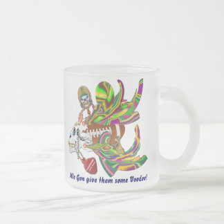 Mardi Gras Football Voodoo Skelly View Notes Plse Frosted Glass Mug