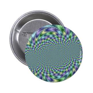 Mardi Gras - Fractal 6 Cm Round Badge