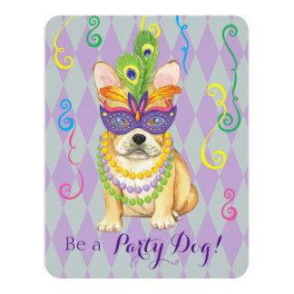 Mardi Gras Frenchie 11 Cm X 14 Cm Invitation Card