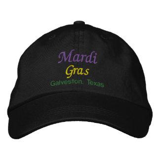 Mardi Gras Galveston Texas Embroidered Hat