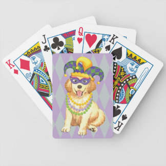 Mardi Gras Golden Bicycle Playing Cards