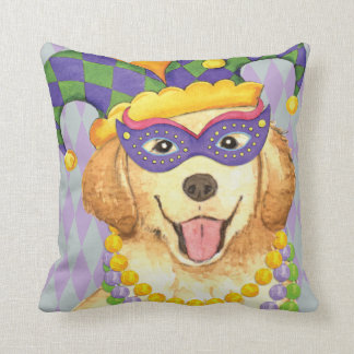 Mardi Gras Golden Cushion
