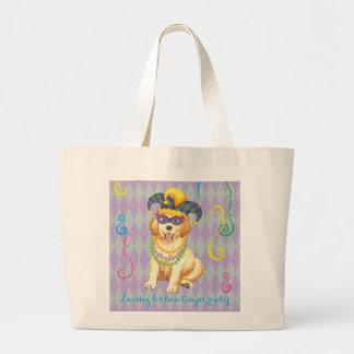 Mardi Gras Golden Large Tote Bag