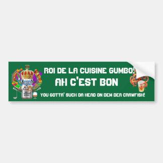 Mardi Gras Gumbo King View Hints please Bumper Sticker