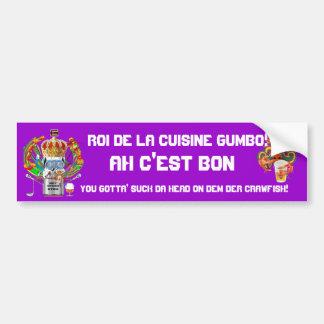 Mardi Gras Gumbo King View Hints please Car Bumper Sticker