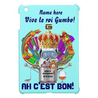 Mardi Gras Gumbo King View Hints please iPad Mini Covers