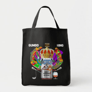Mardi Gras Gumbo King View Hints please Canvas Bag