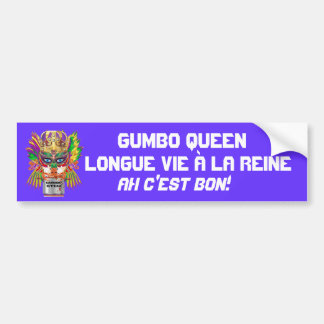 Mardi Gras Gumbo Queen View Hints please Car Bumper Sticker