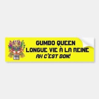 Mardi Gras Gumbo Queen View Hints please Bumper Sticker