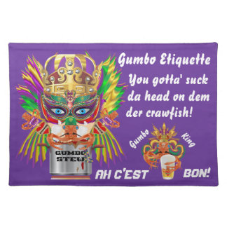 Mardi Gras Gumbo Queen View Hints please Placemats