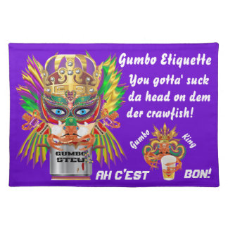 Mardi Gras Gumbo Queen View Hints please Place Mats