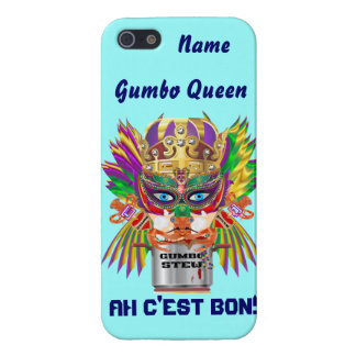 Mardi Gras Gumbo Queen View Hints please iPhone 5/5S Cover