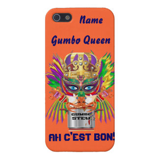 Mardi Gras Gumbo Queen View Hints please iPhone 5/5S Covers