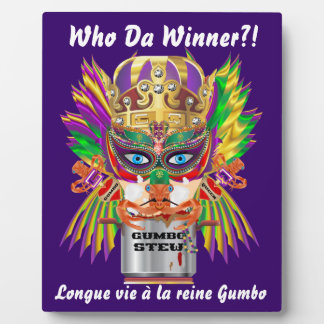 Mardi Gras Gumbo Queen View Hints please Photo Plaque