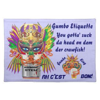 Mardi Gras Gumbo Queen View Hints please Place Mat