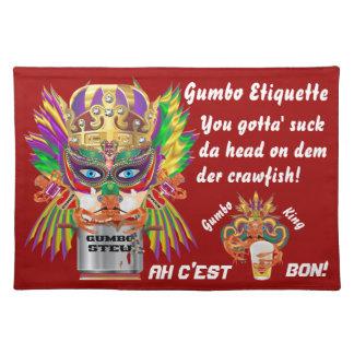 Mardi Gras Gumbo Queen View Hints please Placemats