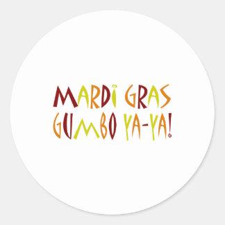 Mardi Gras - Gumbo Ya-Ya! (red, yellow, orange) Stickers