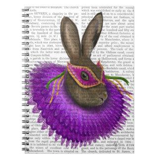Mardi Gras Hare 2 Spiral Notebook