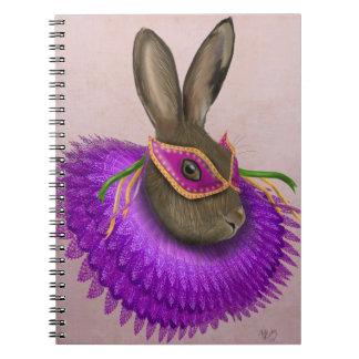 Mardi Gras Hare 4 Notebooks