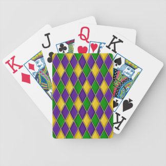 Mardi Gras Harlequin Diamond Pattern Bicycle Playing Cards