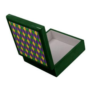 Mardi Gras Harlequin Diamond Pattern Tile Boxes Large Square Gift Box