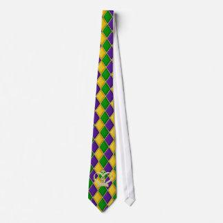 Mardi Gras Harlequin Diamond Tie w/Crown