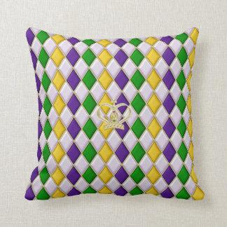 Mardi Gras Harlequin Pattern 3 w/crown Pillows Cushions