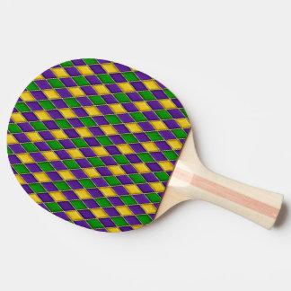 Mardi Gras Harlequin Pattern Paddles Ping Pong Paddle