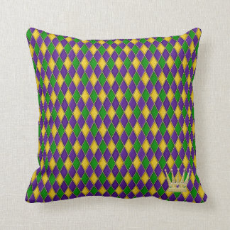 Mardi Gras Harlequin Pattern w/crown Pillows