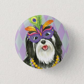 Mardi Gras Havanese 3 Cm Round Badge