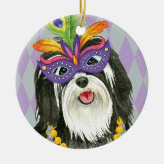 Mardi Gras Havanese Christmas Ornament