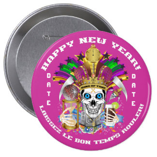 Mardi Gras Holiday Customize View Notes Please 10 Cm Round Badge