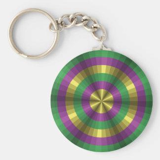 Mardi Gras Illusion Keychain