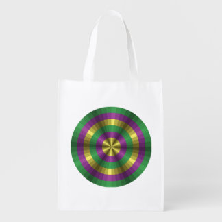 Mardi Gras Illusion Reusable Grocery Bag