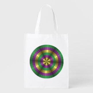 Mardi Gras Illusion Reusable Grocery Bag