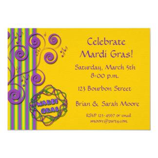 """Mardi Gras Invitation 5"""" X 7"""" Invitation Card"""