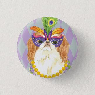 Mardi Gras Japanese Chin 3 Cm Round Badge