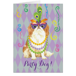 Mardi Gras Japanese Chin Card