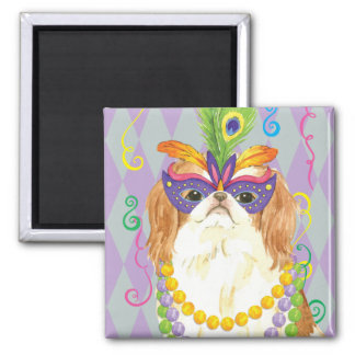 Mardi Gras Japanese Chin Square Magnet