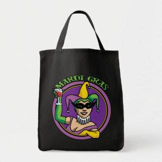 Mardi Gras Jester Girl Tote Bag