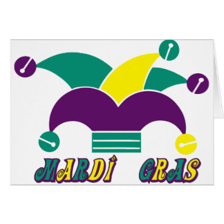 Mardi Gras Jester Hat Party Invitation Card