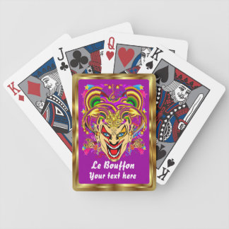 Mardi Gras Jester Joker  view hints please Poker Deck