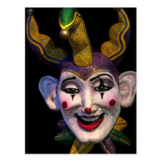 Mardi Gras Jester Postcard