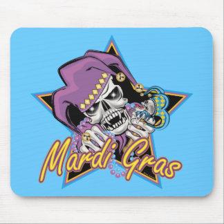 Mardi Gras Jester Skull Mouse Pad