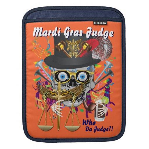 Mardi Gras Judge 30 colors Important view notes iPad Sleeve