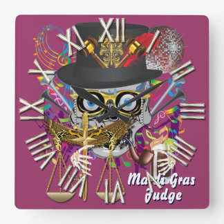 Mardi Gras Judge 30 colors Important view notes Wallclocks