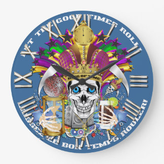 Mardi Gras King of Time  View Hints Please Wall Clock
