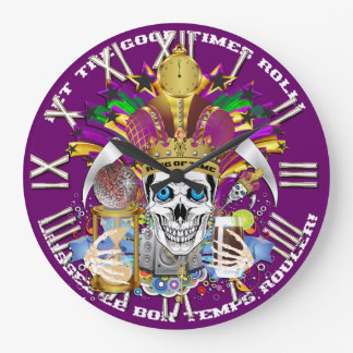 Mardi Gras King of Time  View Hints Please Wall Clocks